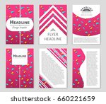 abstract vector layout... | Shutterstock .eps vector #660221659