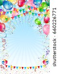 balloon sky flag background | Shutterstock .eps vector #660226771