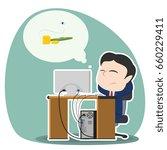 asian businessman worried...   Shutterstock . vector #660229411