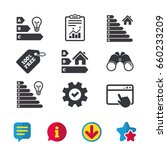 energy efficiency icons. lamp...