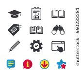 pencil and open book icons....