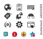 football icons. soccer ball...