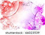 Winter red and pink background - stock photo