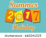 2017 summer holiday  vector... | Shutterstock .eps vector #660241525