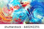 fantasy clouds. bright artistic ... | Shutterstock . vector #660242251
