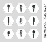 microphones icons   flat...