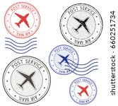 post service airmail colored... | Shutterstock .eps vector #660251734