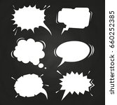 cartoon speech balloons... | Shutterstock .eps vector #660252385
