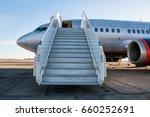 passenger aircraft with a... | Shutterstock . vector #660252691