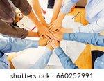 team of engineers working... | Shutterstock . vector #660252991