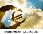 Man\'s Hand Hold The Euro Icon...