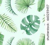 watercolor seamless tropical... | Shutterstock . vector #660255457