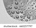 water droplets on shiny...   Shutterstock . vector #660257797