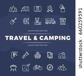 travel and camping line icons... | Shutterstock .eps vector #660259591