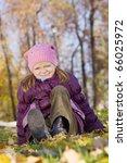 portrait of little girl against ...   Shutterstock . vector #66025972