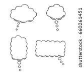 hand drawn speech bubbles set.... | Shutterstock .eps vector #660261451