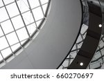ceiling of glass and metal.... | Shutterstock . vector #660270697