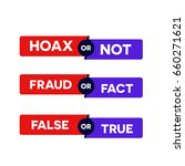 label bar with caption hoax ... | Shutterstock .eps vector #660271621