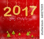 2017 merry christmas color... | Shutterstock . vector #660273205