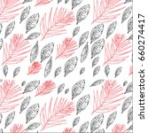 red and black tropical leaves... | Shutterstock .eps vector #660274417