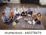 portrait of creative business... | Shutterstock . vector #660278674