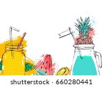 hand drawn vector abstract... | Shutterstock .eps vector #660280441