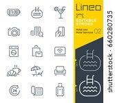lineo editable stroke   hotel... | Shutterstock .eps vector #660280735