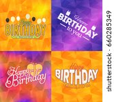 happy birthday greeting card... | Shutterstock .eps vector #660285349
