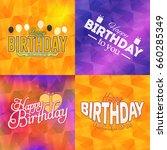 happy birthday greeting card... | Shutterstock .eps vector #660285349