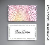 business card. vintage... | Shutterstock .eps vector #660287125