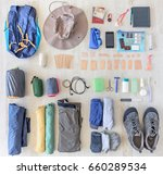 how to pack gear and... | Shutterstock . vector #660289534