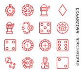 chance icons set. set of 16... | Shutterstock .eps vector #660289921