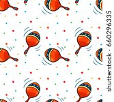 vector seamless pattern with... | Shutterstock .eps vector #660296335