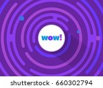 abstract round comic wow... | Shutterstock .eps vector #660302794