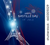 vector 14 july bastille day... | Shutterstock .eps vector #660305029