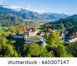aerial view of the medieval... | Shutterstock . vector #660307147