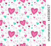 cute seamless pattern with... | Shutterstock .eps vector #660308017