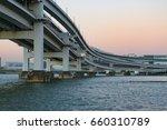 multi level bridge. modern... | Shutterstock . vector #660310789