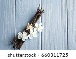 dried vanilla sticks and... | Shutterstock . vector #660311725