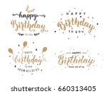 Set Of Happy Birthday...