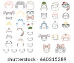 collection of hand drawn vector ... | Shutterstock .eps vector #660315289