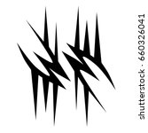 tribal tattoo art designs.... | Shutterstock .eps vector #660326041