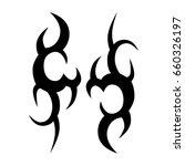 tattoo tribal vector design.... | Shutterstock .eps vector #660326197