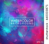 watercolor background abstract... | Shutterstock .eps vector #660333871