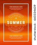 summer sale banner shopping on... | Shutterstock .eps vector #660334609