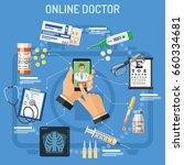 online doctor concept. man... | Shutterstock .eps vector #660334681