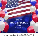 independence day of usa 4 july .... | Shutterstock .eps vector #660334819