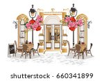 series of backgrounds decorated ... | Shutterstock .eps vector #660341899