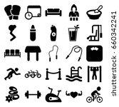 Lifestyle Icons Set. Set Of 25...