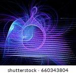 abstract fractal dark... | Shutterstock . vector #660343804